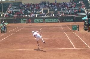 Playing Davis Cup Vs. Egypt 2012