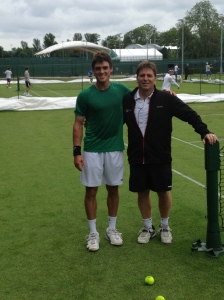 Me and my old coach Larry at Wimbledon