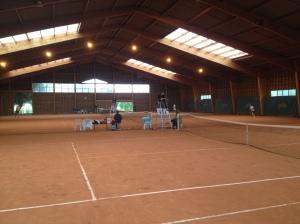 Indoor clay court