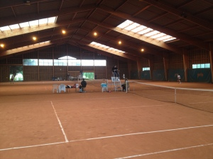Indoor clay court