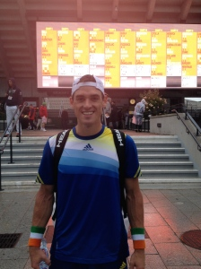 First time playing at Roland Garros!
